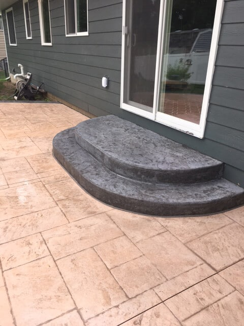 concrete patio stairs golden valley
