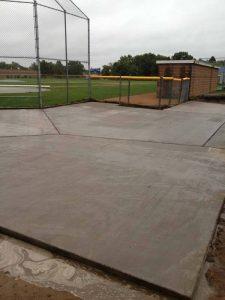 baseball field concrete