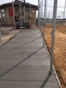 concrete ball field dugout north st paul