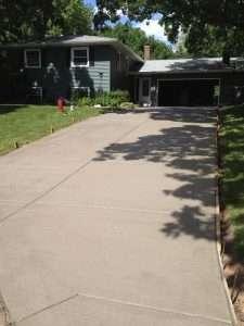 concrete driveway mn