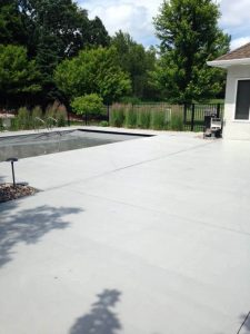 concrete patio pool deck mn