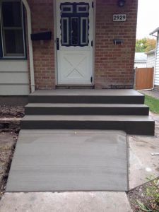 concrete steps and ramp mn