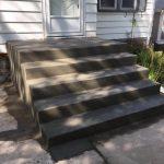 fresh poured concrete steps