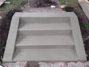 fresh poured concrete steps mn