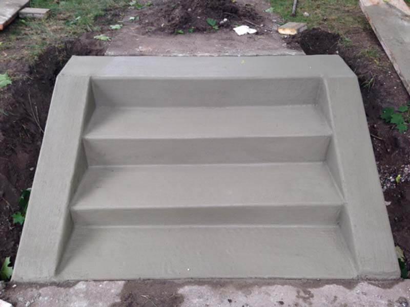 fresh poured concrete steps mn