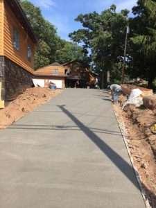 long concrete driveway mn