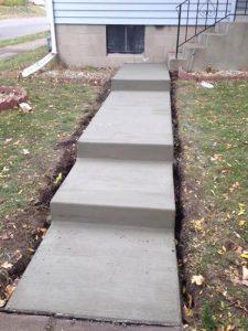 long concrete steps