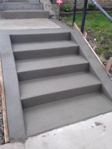 poured concrete steps mn